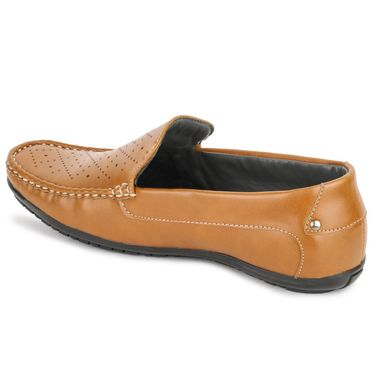 Foot n Style Tan Loafers -Fs3063