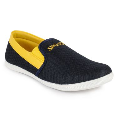 Foot n Style Grey & Yellow Casuals  Shoes -Fs3069