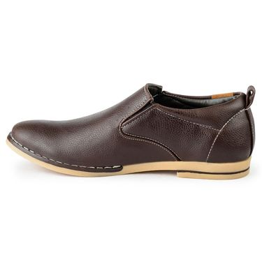Foot n Style Leather Brown Casual Shoes -fs3112