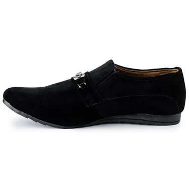 Foot n Style Suede Leather Black Casual Shoes -fs3121