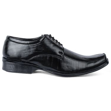 Foot n Style Leather Formal Shoes FS 387 -Black