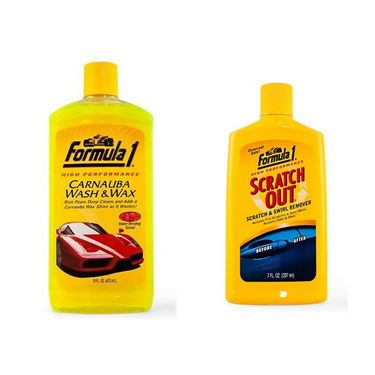 combo Of Formula 1 Scratch Out Polish 207ml + Car Shampoo 473 Ml