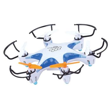6 Axis Gyro 4Ch Ultrastable RC 3D Rollover Mini Hexacopter - Blue White