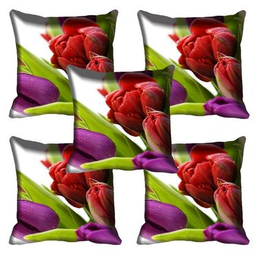 Set of 5 meSleep Digitally Printed Tulip Cushion Cover-meSleep-Tulip-HS
