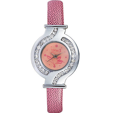 Mango People Analog Round Dial Watch For Women_mp001pk01 - Pink