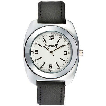 Mango People Analog Round Dial Watch For Men_mp007 - White