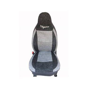 Car Seat Cover For Chevrolet Enjoy-7-Black & Grey - CAR_11031