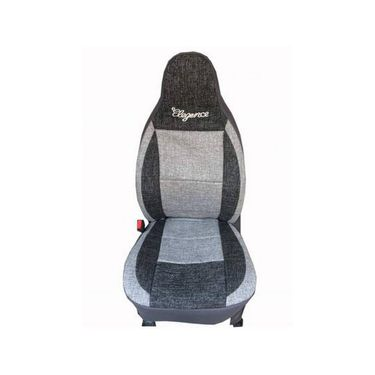 Car Seat Cover For Tata Sumo-Black & Grey - CAR_11027
