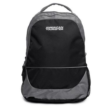 American Tourister Polyester Backpack At35 -Black