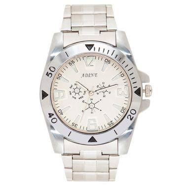 Adine Analog Wrist Watch For Men_Ad52010sw - White