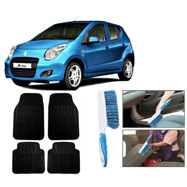 Car Combo Rubber Mats + Plastic Car Cleaning Brush/Duster - Assorted-rubber_brush