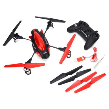 Skyline 4 Ch UFO Quadcopter with Camera - Red
