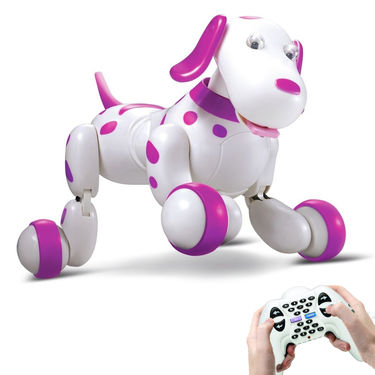 Smart Interactive RC Robo Dog - Pink & White