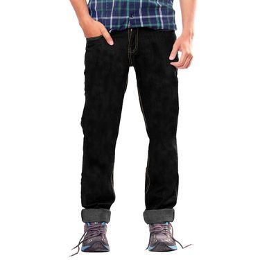 Uber Urban Cotton Jeans_ub07 - Black
