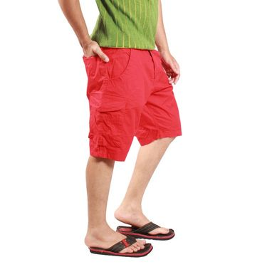 Uber Urban Cotton Shorts_ub14 - Red