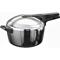 Hawkins Futura Stainless Steel Pressure Cooker 5.5L - Silver & Black