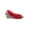 Ten Suade Leather 288 Women's Heel Sandals - Red