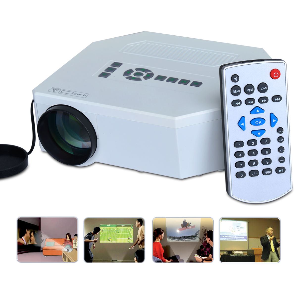 Buy advanced 150 lumens led cinema projector online at for Highest lumen pocket projector
