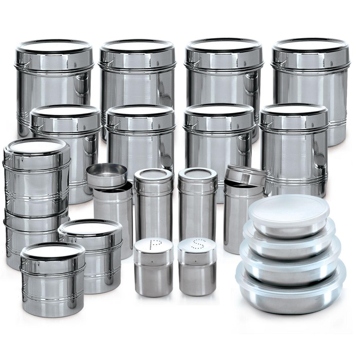 Kitchen Set Steel: Buy Branded 44 Pcs. Stainless Steel Storage Set Online At