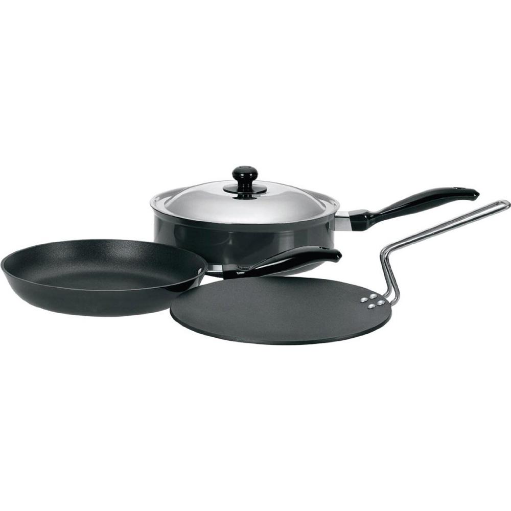 Naaptol Kitchen Set: Buy Hawkins Futura 4pcs Nonstick Cookware Set