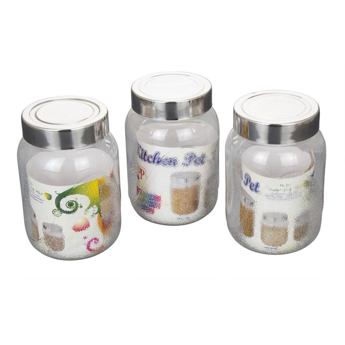 Buy klassic vimal kitchens pet 500 ml set of 3pcs kv070 for Kitchen set naaptol