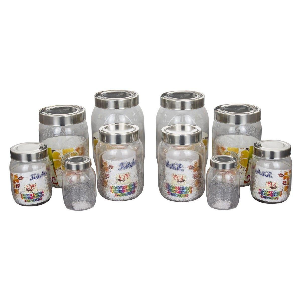 Buy klassic vimal kitchens pet set of 10pcs kv084 online for Kitchen set naaptol