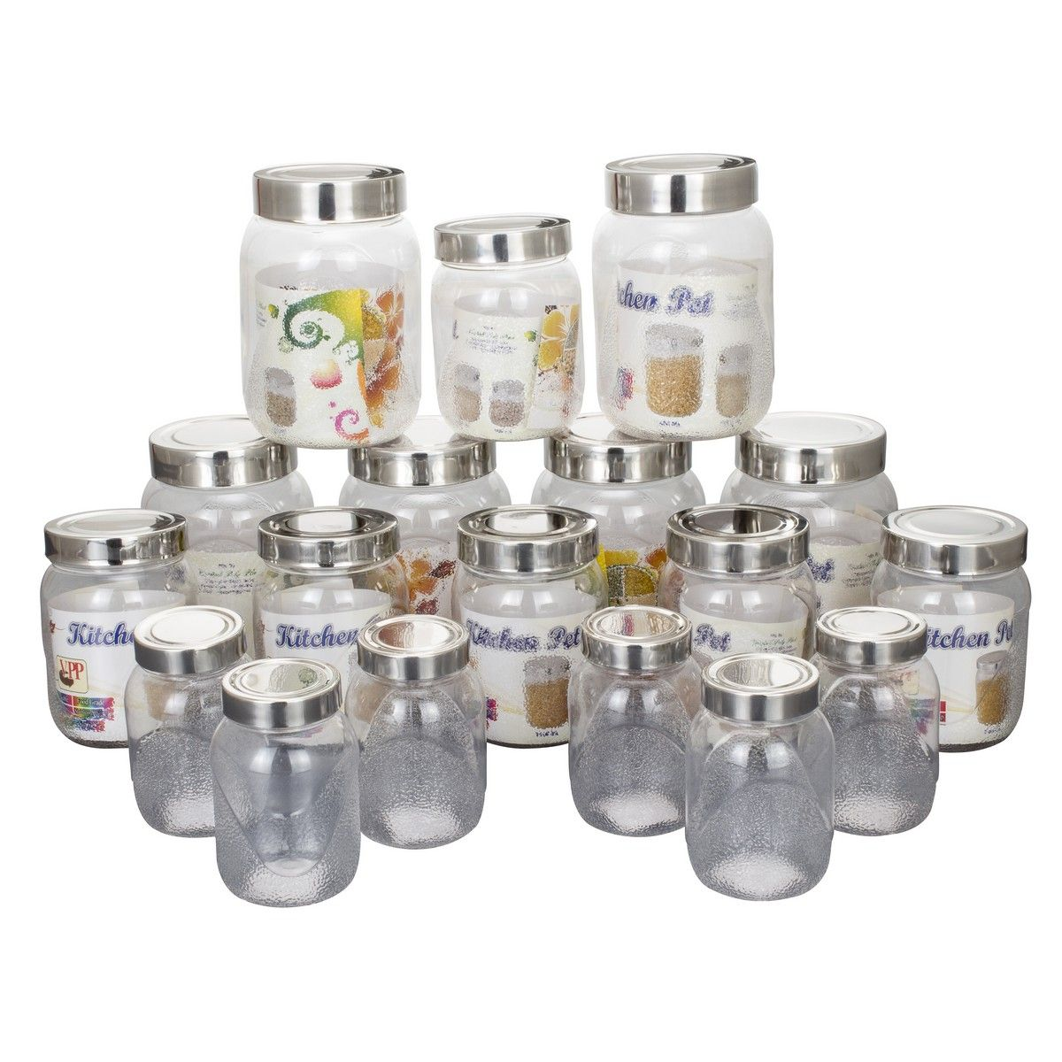 Buy klassic vimal kitchens pet set of 18pcs kv089 online for Kitchen set naaptol
