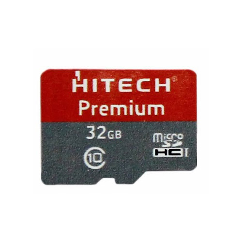 Hitech premium microsdhc 32gb memory card red