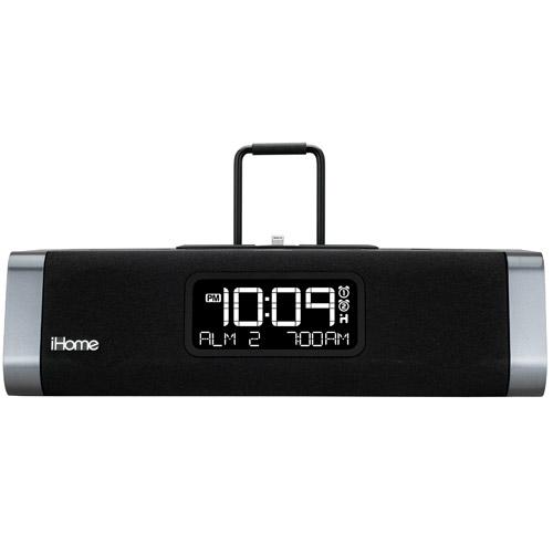 buy ihome idl45 lightning dock for ipad iphone dual charging stereo alarm clock radio black. Black Bedroom Furniture Sets. Home Design Ideas