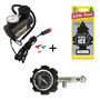 Combo Of Tyre Inflator Air Compressor + Tyre Pressure Guage + Hanging Perfume