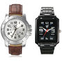 Combo of 2 Rico Sordi Mens Watches For Men_RSD103_WW - Black & White