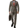 Vimal Suit Length (Coat + Trouser) For Men - Dark Grey