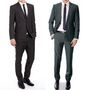 Pack of 2 Vimal Suit Length (Coat + Trouser) For Men - Black & Blue