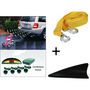 Combo of Car Reverse Parking Sensors + Tow Cable + Fin Shaped Antenna
