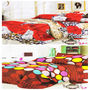 Set of 2 Dekor World 3D Multi Printed BedSheet With 4 Pillow Covers-DWBSCB-016