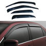 Car Door Visor For Maruti Alto 4 Pcs - Black
