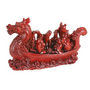 Fengshui Powerful Dragon Faced Ship - Red