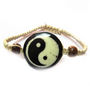 Fengshui Yin Yang Bracelet Symbol Of Good Luck And Balance In Life - Black & Cream