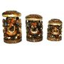 GRJ India Set Of 3 Antique Ganesh Chatri