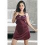Ishin Satin 1 Piece Nightwear - Maroon