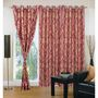 IWS Set of 3 Designer Door curtains-Multicolor- RNG-c01-361