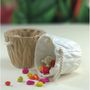 Importwala white & beige Ceramic Baskets Big- Set /2 1403-1021