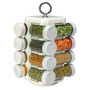 16 Jar Kitchen Mate Revolving Multipurpose Rack - White