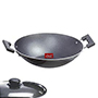 OK Non Stick Kadahi with Lid-K1 - Black