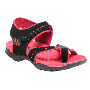 Pede Milan Faux leather Floaters - Black & Pink