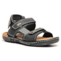 Pede Milan Faux Leather Floaters - Black