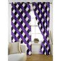 Story @ Home Purple 2 pc Window curtain-5 feet-WNR3014