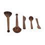 ExclusiveLane Set Of 5 Kitchen Cutlery - Brown