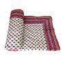 Shop Rajasthan Jaipuri Designer Printed Single Bed AC Quilt-Pink & Blue