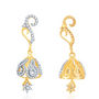 Sukkhi Gold Finished Earrings - White & Golden - 123E2550